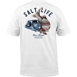 Salt Life Mens Striper Flag T-Shirt