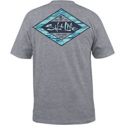 Salt Life Mens Hidden Agenda Heathered Pocket T-Shirt