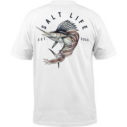 Salt Life Mens Sailfish Cowboy Pocket T-Shirt