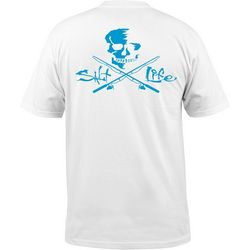 Salt Life Mens Skull & Poles Short Sleeve Pocket T-Shirt