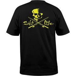 Salt Life Mens Skull & Poles Chest Pocket T-Shirt