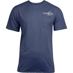 Salt Life Mens Captain SLX UVapor Short Sleeve Shirt