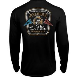 Salt Life Mens Aquaholics Pocket Long Sleeve T-Shirt