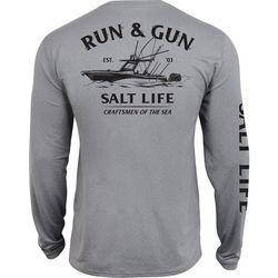 Salt Life Mens Run & Gun SLX UVapor Pocket T-Shirt