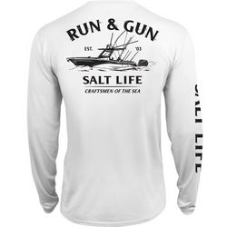 Salt Life Mens Run & Gun SLX UVapor T-Shirt