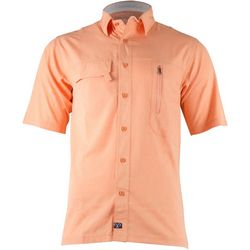 Salt Life Mens Angler Woven Short Sleeve Shirt