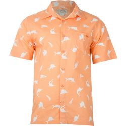 Salt Life Mens The Hunt Woven Short Sleeve Shirt