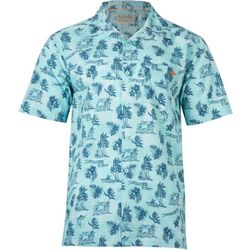 Salt Life Mens Island Breeze Woven Short Sleeve Shirt