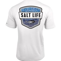 Salt Life Mens Water Skinz Badge SLX UVapor T-Shirt