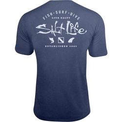 Salt Life Mens Watermans Trifecta SLX UVapor Pocket T-Shirt