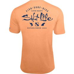 Salt Life Mens Watermans Trifecta SLX UVapor T-Shirt