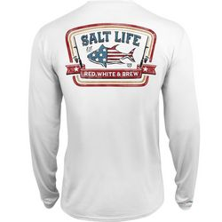 Salt Life Mens Red, White & Brew Performance T-Shirt