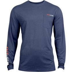 Salt Life Mens Vapor Scales Performance Long Sleeve T-Shirt