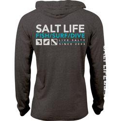 Salt Life Mens Demand Performance Heathered Hoodie