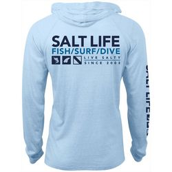 Salt Life Mens Demand Performance Hoodie
