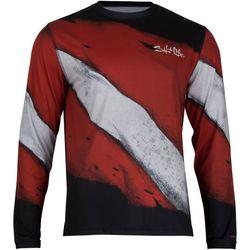 Salt Life Mens Deep Dive SLX Performance Long Sleeve T-Shirt