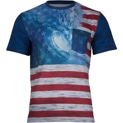 Salt Life Mens Ameriseas Performance Short Sleeve T-Shirt