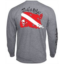 Salt Life Mens Dive Flag Long Sleeve T-Shirt