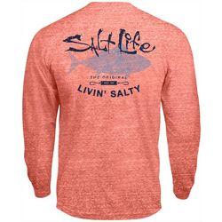 Salt Life Mens Big Shot Tuna Tri-Blend Long Sleeve T-Shirt
