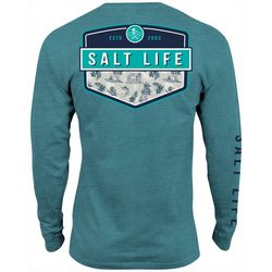Salt Life Mens Island Breeze Badge Long Sleeve T-Shirt