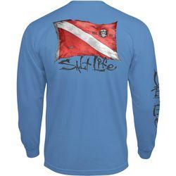 Salt Life Mens Weathered Dive Flag Long Sleeve T-Shirt