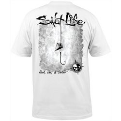 Salt Life Mens Hook Line and Sinker Logo T-Shirt