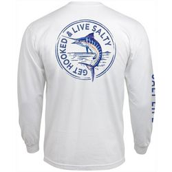 Salt Life Mens Marlin Stamp Long Sleeve T-Shirt