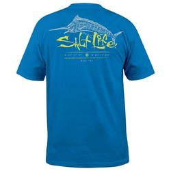 Salt Life Mens UVapor Etched Marlin Pocket T-Shirt