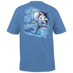 Salt Life Mens UVapor Big Blue Pocket T-Shirt