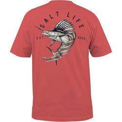 Salt Life Mens Sailfish Cowboy Pocket T-Shirt