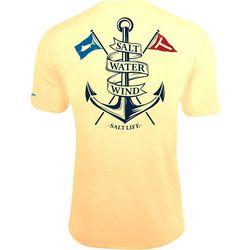 Salt Life Mens Salt Water Wind SLX UVapor Pocket T-Shirt