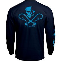 Salt Life Mens Skull & Hooks Long Sleeve T-Shirt