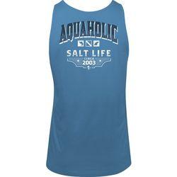 Salt Life Mens Aquaholic Logo Tank Top