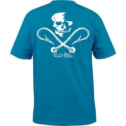 Salt Life Mens Skull & Hooks Short Sleeve T-Shirt