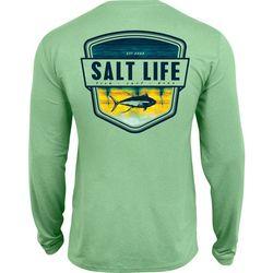 Salt Life Mens Electric Skinz UVapor Pocket T-Shirt