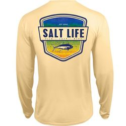 Salt Life Mens Electric Skinz UVapor Pocket T-Shirt