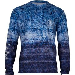 Salt Life Mens Electric Skinz SLX UVapor Long Sleeve T-Shirt