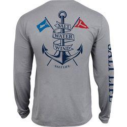 Salt Life Mens Saltwater Anchor Long Sleeve T-Shirt