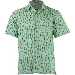 Salt Life Mens Buoys Woven Short Sleeve Shirt