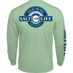 Salt Life Mens Live By The Reel Long Sleeve T-Shirt