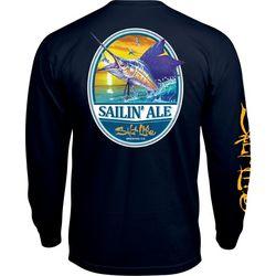 Salt Life Mens Sailin' Ale Chest Pocket T-Shirt