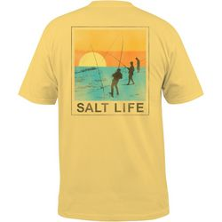 Salt Life Mens Tradewinds Salt Wash Chest Pocket T-Shirt