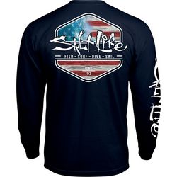 Salt Life Mens Amerisea Long Sleeve T-Shirt