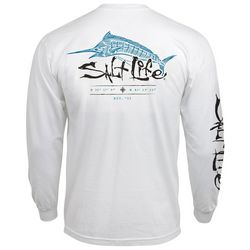 Salt Life Mens Etched Marlin Long Sleeve T-Shirt