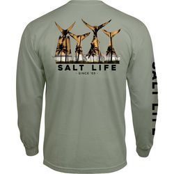 Salt Life Mens Fish & Tail Long Sleeve T-Shirt