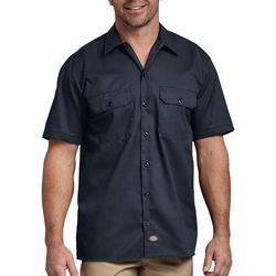 Dickies Mens Solid Short Sleeve Work Shirt