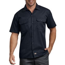 Dickies Mens Flex Relaxed Fit Solid Short Sleeve Work Shirt
