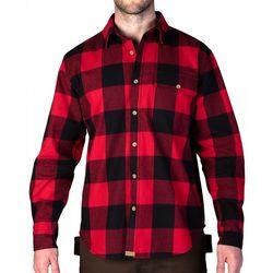 Smiths Mens Buffalo Plaid Long Sleeve Shirt