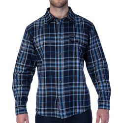 Smiths Mens Plaid Long Sleeve Shirt