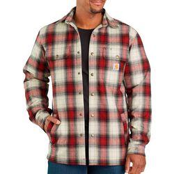 Carhartt Mens Sherpa Lined Plaid Shirt Jacket